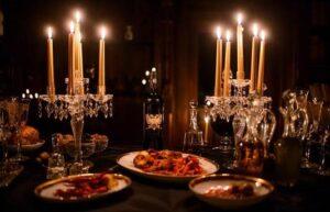 ambiance halloween pour repas mondain